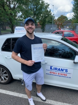 Congratulations to Bogdan on passing his driving test 1st attempt with 1 minor fault - great drive