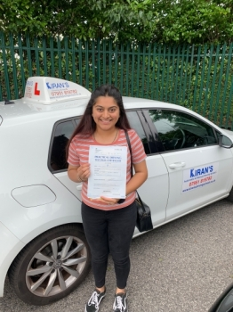 Congratulations to Tulsi Varsani on passing her driving test 1st time with 2 minor faults at bolton test centre