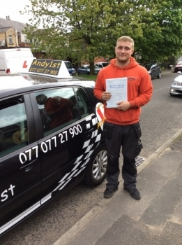 Congratulations to Chris on passing your driving test wishing you all the best