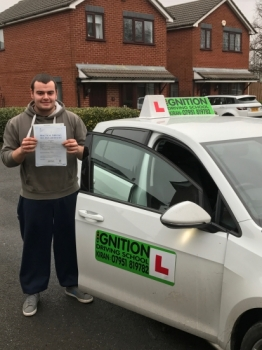 Congratulations to Luke on passing his driving test at bolton test centre 1st time with only 1 minor<br />