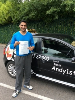 Congratulations to Mohsen on passing his test at bolton test centre 1st time