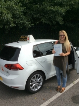 Congratulations to Natasha on passing her driving test at bolton test centre<br />