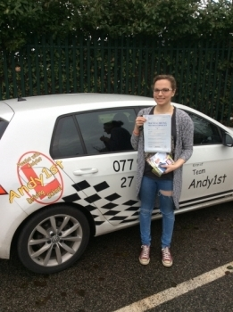 congratulations to Lauren on passing her driving test at bolton test centre 1st time - great drive with only a few minors - wishing you many miles of safe driving <br />