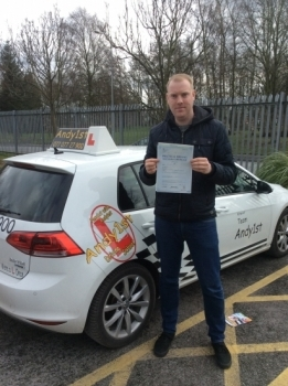 Congratulations to Johnathan on passing your driving test at bolton test centre <br />