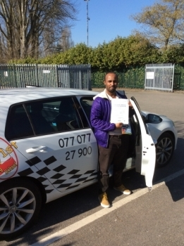 Well done Mohammed on passing your driving test 1st time wish you all the best