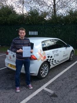 Well done to Daniel on passing his driving test at bolton test centre 1st time with few minors<br />