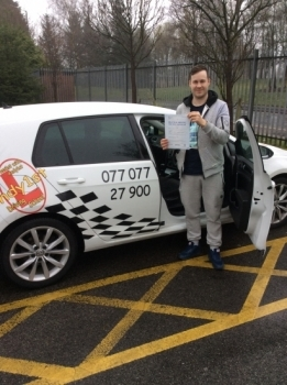 Congratulations to Andy on passing your driving test at bolton test centre<br />