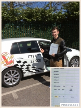 Another 1st time pass - congratulations to Mariuz on passing his driving test at bolton test centre with a perfect drive 0 faults. Wishing you many miles of safe driving keep it up, well done