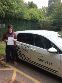 Congratulations to David on passing his driving test at bolton test centre 1st time with only 1 minor<br />