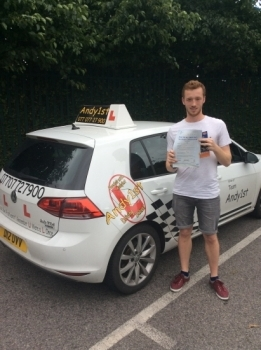 Congratulations to Aaron on passing his driving test at bolton test centre 1st time with only 2 minors<br />