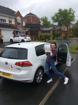 Congratulations Holly on passing your driving test at bolton test centre 1st attempt with few minors great drive well done wishing you many miles of safe driving