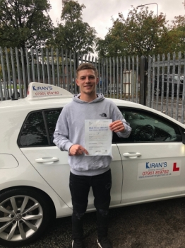Congratulations to Dean Rayson on passing your driving test first time at bolton test centre with only 1 driver fault<br />