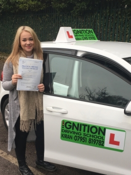 Congratulations to Claudia on passing her driving test first time at bolton test centre with few minors<br />
